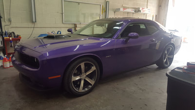 a freshly detailed Dodge Challenger