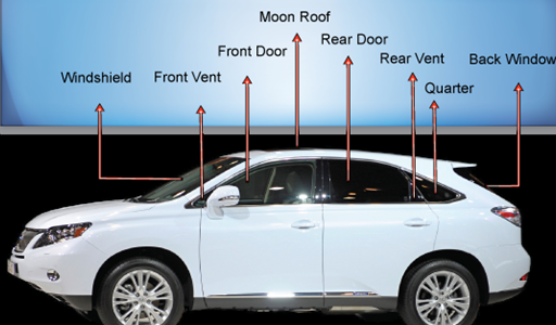 Auto glass repair chart